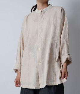 ヂェン先生の開襟シャツ長袖薄地 生成 Sサイズ