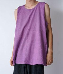 ヂェン先生の日常着 タンクトップ 薄紫 XLサイズ