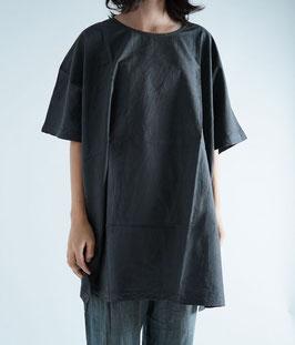 ヂェン先生の長丈Tシャツ 墨