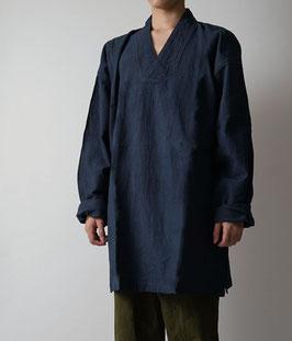 ヂェン先生の日常着 プルオーバー薄地 紺 Lサイズ