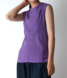 ヂェン先生のヘンリーキャップ・プリーツ 薄紫