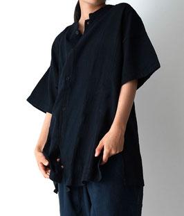 ヂェン先生の開襟シャツ 半袖 黒 Mサイズ