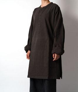 ヂェン先生のヘンリー長袖厚地 こげ茶 密織 Lサイズ