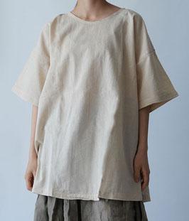 ヂェン先生の半袖Tシャツロング 生成