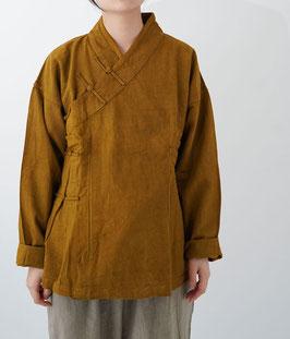 ヂェン先生のかさねチャイナ厚地 黄土 粗織