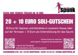 Soli-Gutschein über 10, 20, 30 oder 50 Euro + 50%
