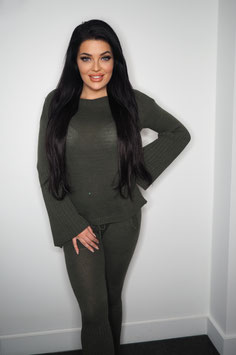 Knitwear Comfy Suit Green