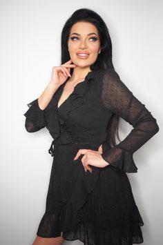 Black Flair Party Dress