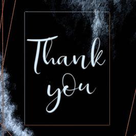 Postkarte - Thank you