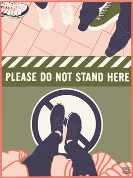 Please do not stand here A4