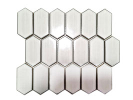 Mosaico Japan ESAGONO LONG Bianco lucido