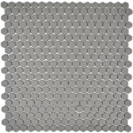 Mosaico Kuba ESAGONI 15mm GRIGIO