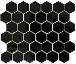 Mosaico Esagoni medi NERO LUC