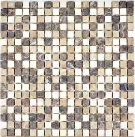 Mosaico Marmo 15mm Mix Emperador anticato