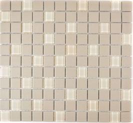 Mosaico Ruvido BEIGE VETRO 25 non smaltato
