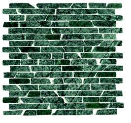 Mosaico a muretto in Verde Alpi anticato