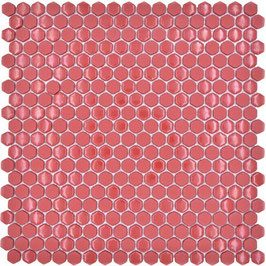 Mosaico Kuba ESAGONI 15mm ROSSO