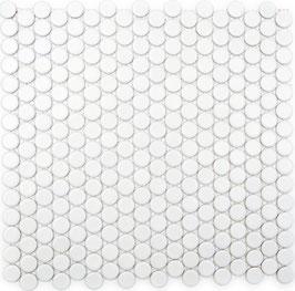 Mosaico Bottone BIANCO MAT
