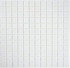 Mosaico EXTRA BIANCO Vetro Trasparente lucido