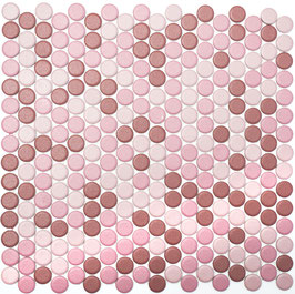 Mosaico Bottone MIX ROSA MAT