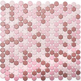Mosaico Bottone MIX ROSA MAT