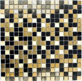 Mosaico 15mm in Alluminio Vetro Brown