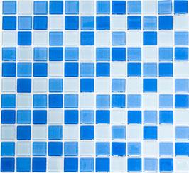 Mosaico CRYSTAL MIX CELESTE Vetro lucido