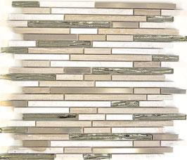 Mosaico Brick Marmo Vetro Metallo 15/48/98mm London Metal