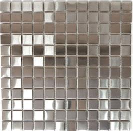 Mosaico 23mm in Metallo Acciaio satinato