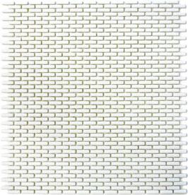 Mosaico Kuba BRICK 5/10 mm BIANCO