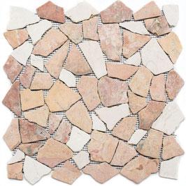 Mosaico Palladiana Marmo Mix Rosso Verona Crema