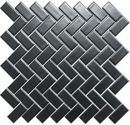 Mosaico PURO NERO TRECCIA 23/48 MAT