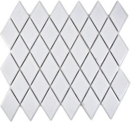 Mosaico Rombo WHITE LUCIDO