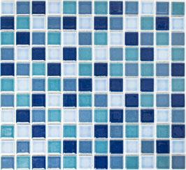 Mosaico Classica MIX BLU NAVY LUCIDO