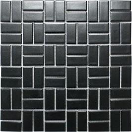 Mosaico PURO NERO KUBIK 23/48 MAT