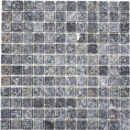Mosaico Marmo 23mm Nero Marquinia anticato