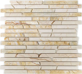 Mosaico Muretto Marmo Golden Cream lucido