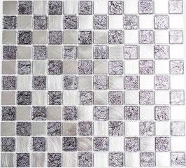 Mosaico 25mm in Alluminio Mix Silver