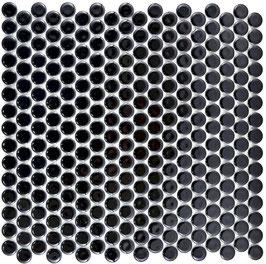 Mosaico Bottone NERO LUC