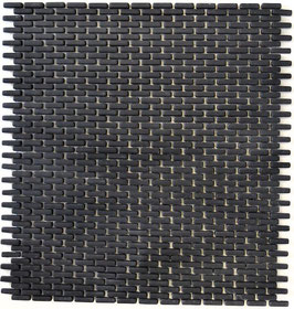 Mosaico Kuba BRICK 5/10 mm NERO