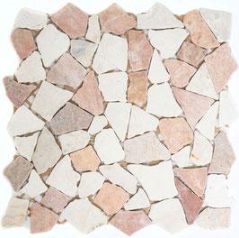 Mosaico Palladiana Marmo Mix Rosso Verona Botticino
