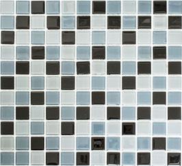 Mosaico CRYSTAL MIX BLACK Vetro lucido