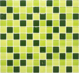 Mosaico CRYSTAL MIX VERDE FLUO Vetro lucido