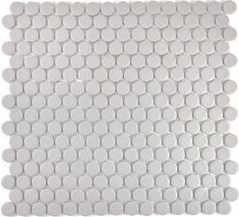 Mosaico Bottone GRIGIO CHIARO ANTISCIVOLO opaco