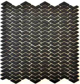 Mosaico Kuba ZIGZAG 10/45 mm NERO