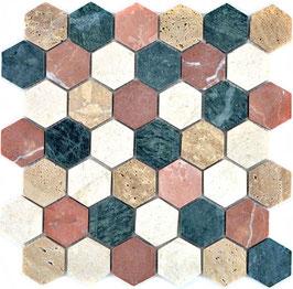 Mosaico Esagono 48mm Random