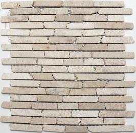 Mosaico Muretto Marmo Biancone anticato