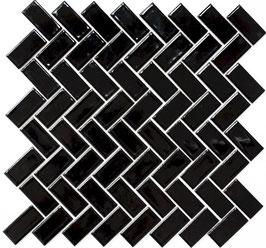 Mosaico PURO NERO TRECCIA 23/48 LUC