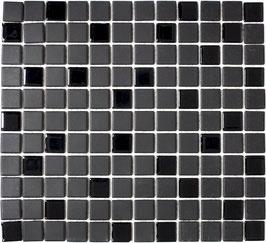 Mosaico Ruvido MIX NERO VETRO 25 non smaltato