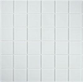 Mosaico 48mm BIANCO Vetro Trasparente lucido